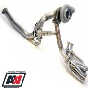 Subaru Rotated Twisted Turbo Kit With Un-Equal Length Headers GT35 750BHP+